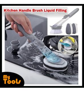 Mytools Kitchen Automatic Liquid Filling Long Handle Brush Pot Artifact Dish Scrub Cleaning Brush