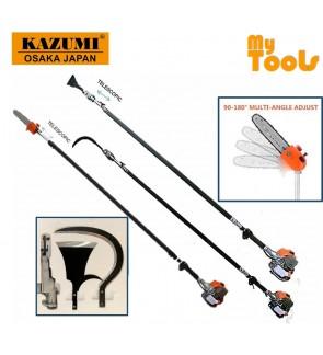 Kazumi Japan KZ360 Petrol Garden tools Telescopic Chain Saw Oil Palm Tree Pruner Pole Saw