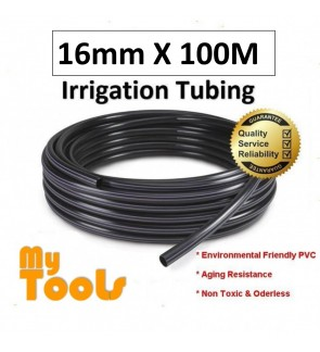 Mytools 16mm x 100Meter Irrigation Water Tubing Pipe Polytube Hose LDPE 16 / 13mm Polypipe Poly Tube Fertigasi polipaip pipe poli paip drip water