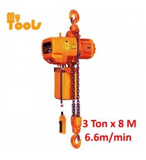 Himitzu 3 Ton x 8 M 5.6m/min Electric Chain Hoist