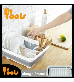 Mytools Collapsible & Foldable Drying Dish Rack Kitchen Easy Storage Holder Drainer Organizer Bowl Plate Portable