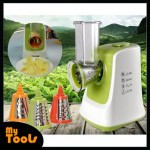 Electric Vegetable Grinder Mincer Chopper Peeler Slicer Cutter Shredder Food Processor Machine (Gree