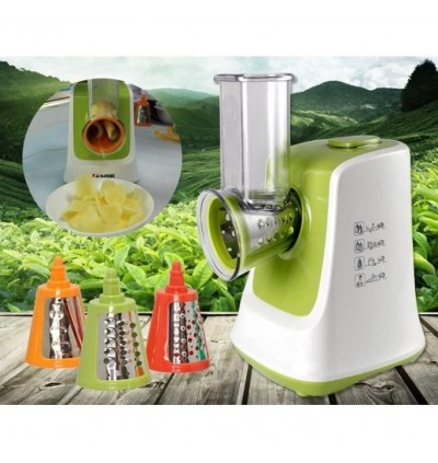 Electric Vegetable Grinder Mincer Chopper Peeler Slicer Cutter Shredder Food Processor Machine (Gree