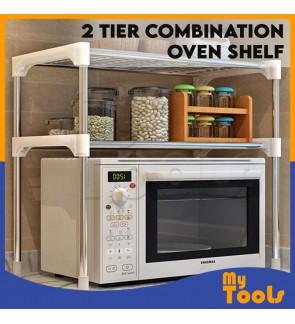 Mytools 2 Layer Tier Multipurpose Kitchen Shelves Organizer Rack Combination Microwave Oven Shelf Storage Space Saver