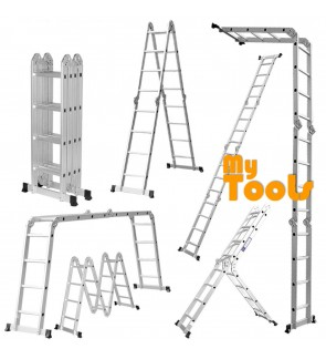 Mytools 16 Step 16Feet Multipurpose Aluminium Ladder (Heavy Duty)