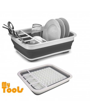 Mytools Foldable Dish Rack Kitchen Storage Rack Drainer Bowl Tableware Plate Portable Drying Rack Home Shelf Dinnerware Organizer