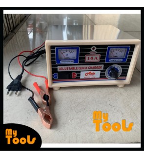 Mytools 6V 12V 10Amp 10A Battery Charger with Reverse Connection and Short Circuit Protection (Made In Malaysia)