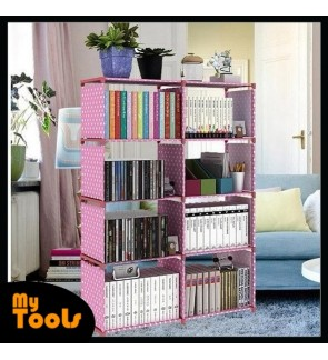 Korean DIY Book Storage 5 Tier with 8 Columns Bookcase Book Shelf