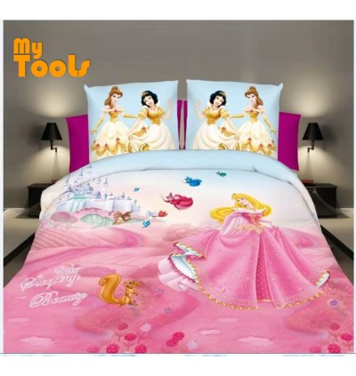 Mytools 4 In 1 100% Cotton Premium Bed Sheet Queen Size / King / Single Fitted Bedsheet / Cadar c/w Pillow Case & Bolster ( 10 Pattern ++)