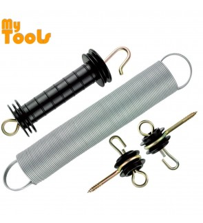 Mytools Gate Handle Kit with 50mm Diameter Long Spring for Electric Fence Fencing Energizer System (Pagar Elektrik