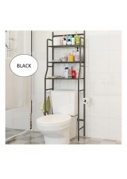 3 Tiers Bathroom and Toilet Organizer Shelves Rack- Black
