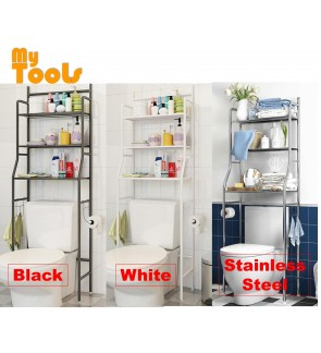 3 Tiers Bathroom and Toilet Organizer Shelves Rack