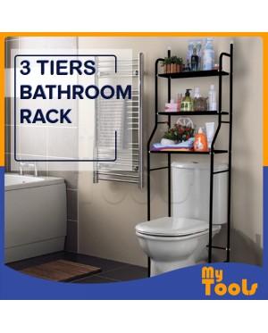 Mytools 3 Tiers Bathroom Rack and Toilet Organizer Shelves Rack White Black Stainless Steel
