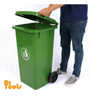 Mytools 120L Plastic Dustbin / Rubbish Bin / Garbage Bins with Wheels (Green)