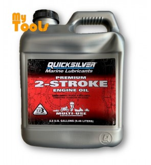 Quicksilver Outboard Marine Lubricants 2-Stroke Lubricant 2T TCW-3 Engine Oil 9.46L / Minyak 2T (Mad