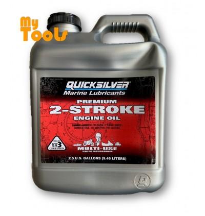 Quicksilver Outboard Marine Lubricants 2-Stroke Lubricant 2T TCW-3 Engine Oil 9.46L / Minyak 2T