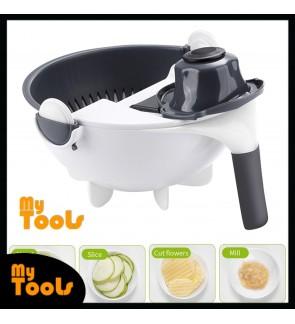 Mytools Manual Vegetable Slicer Drainer Bowl Vegetable Fruit Cutter Kitchen Mandoline Chopper Grater Rotate Drain Basket