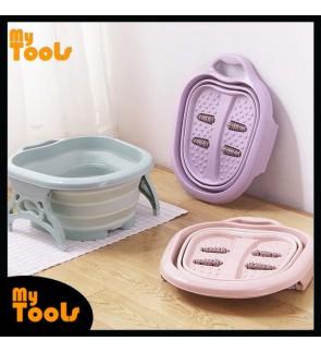 Mytools Foldable Foot Massage Bucket SPA Chinese Health Care Bath Folding Portable Wash Basin