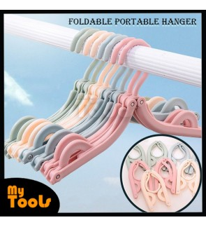 Mytools 10Pcs Foldable Travel Cloth Portable Hanger Clothes Drying Rack with Anti-Slip Design