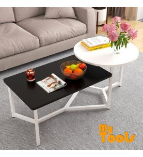 Mytools 2 In 1 Coffee Table Side Table for Living Hall for Café Furniture AirBnB for Office