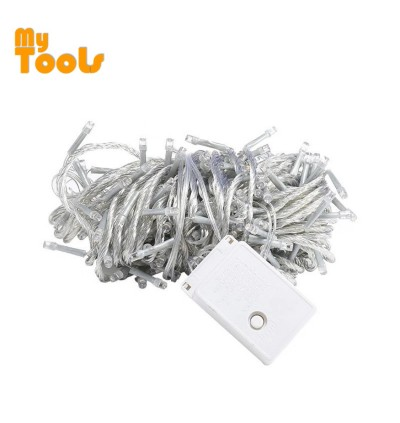 Mytools 10m 100 pcs LED fairy Light (Warm White) String Light Lamp Wedding Party lampu Home Festive Decorative strip lighting display