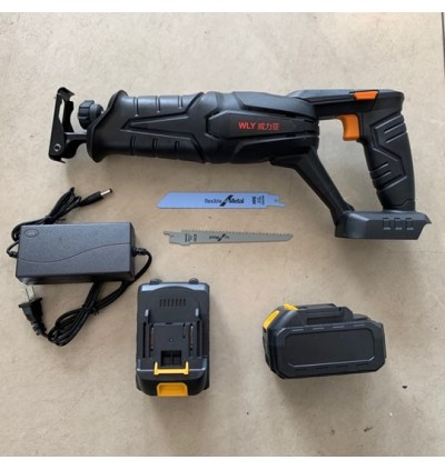 Mytools 21V Cordless Handsaw Saber Sabre Electric Saw With 4.0aH Double Battery Reciprocating Saw Blade