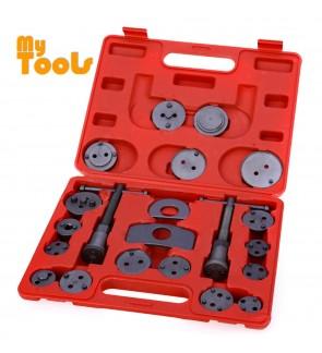 21pcs Universal Car Disc Brake Caliper Wind Back Brake Piston Compressor Tool Kit For Most Automobiles Garage Repair Tool
