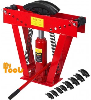 Mytools 16T 16 Ton Hydraulic Tubing Pipe Bender Bending Tool with 8 Dies