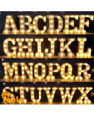 Mytools 3D LED Large Marquee Letters Alphabet Symbol Numbers Heart Hanging Light Anniversary Marriage Proposal Deco