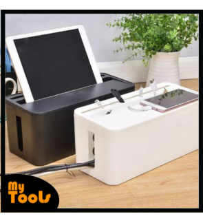 Mytools Wire Organizer Box Power Strip Cable Management Box Organizer Plastic Cable Storage Case for Desk TV Computer