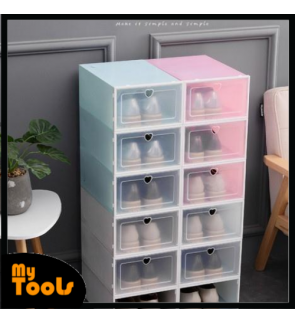 Mytools Acrylic Plastic Shoes Box Transparent Stackable Waterproof Unisex Shoes Organiser
