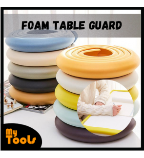Mytools Foam Table Edge Guard Desk Edge Guard Strip Rounded Corner Protector for Furniture Cushion Rubber Bumper