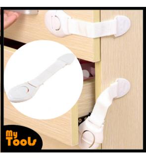 Mytools 3M Adhesive Kid Safety Door Lock for Door Drawer Fridge Wardrobe Clip Buckle Type