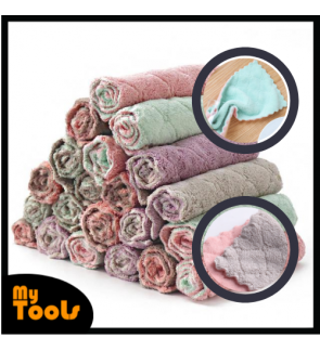 Mytools High Absorbent Micro Fibre Cleaning Wiping Cloth Rags Towel Double Sided for Household Kitchen Dish Cloth