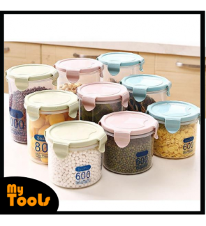 Mytools Airtight Sealing Plastic Food Container With Measuring Scale Snack Box Bottle For Home Kitchen Organiser
