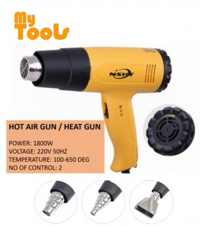 Mytools Hot Air Gun / Heat Gun 1800W With 2 Speed and Varies Heat Control
