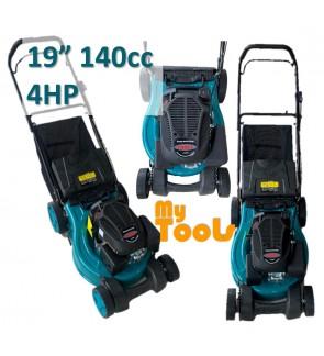 "Mytools 19"" 480mm 140cc 4HP Petrol Grass Cutter Lawn Mower / Mover c/w Grass Basket"