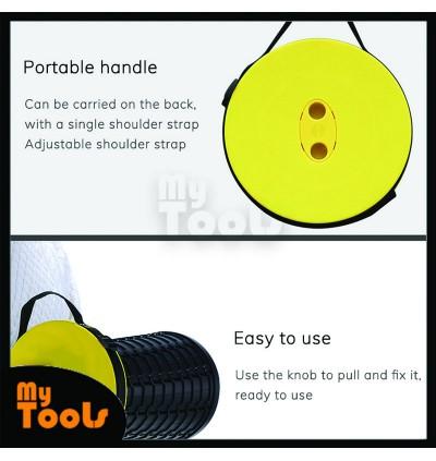 Mytools Retractable Folding Stools Portable Plastic Travel Seat Telescopic Plastic Stool Shrinkable Camping Fishing Garden Folding Chair