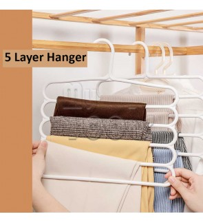 Mytools Fullhouse 5-Tier Trousers Holder Hook Scarf Wraps Shawl Ties Storage Hanger Wardrobe Shelf