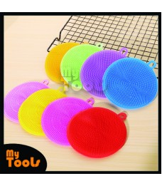 Mytools Silicone Dishwashing Brush All Use Cleaning Brush Scrubbing Artifact Round Silicone Cleaning Brush Multipurpose Round Silicone Dish Washing Sponge Kitchen Cleaning Scrubber Pad