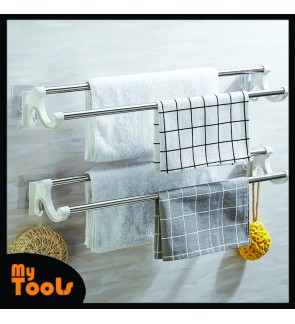 Mytools Stainless Steel Anti-rust Adhesive Towel Rack Toilet Bathroom Storage Hanging Bar Rod