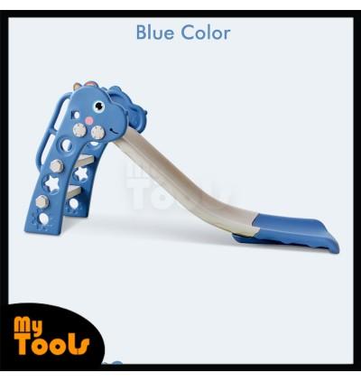 Mytools Cute Dino Indoor Home DIY 130cm Long Children Slide Basketball Hoop Kids Slide Toys for Kids Papan Gelongsor