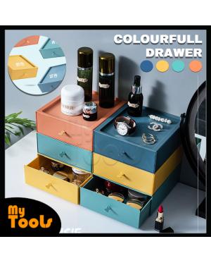 Mytools Plastic Storage Organizer Stackable Desktop Organization Drawers Set for Makeups, Bathroom, Dorm, Desk, Vanity