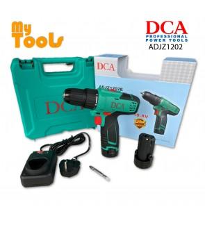 DCA ADJZ1202E 10.8V 2.0Ah High Torque Cordless Driver Drill - 2pcs Batteries & 1pc Base Charger & 1pc Screw Bit - 6 Months Warranty -