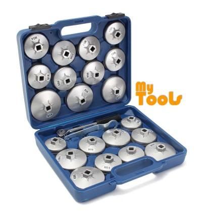 Mytools Auto Tools 23pcs Cap Type Filter Wrench / 23pcs Aluminium Cap Type Oil Filter Wrench Set / Oil Filter Opener