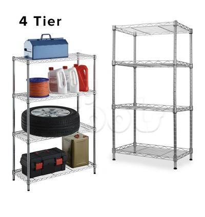 Mytools 4 Tier Kitchen Dapur Organizer Steel Rack Shelf Bathroom