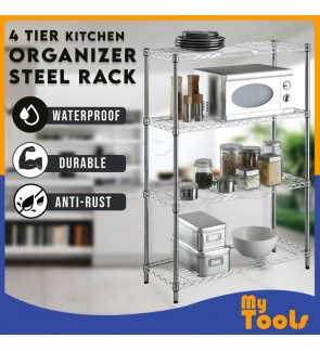 Mytools 4 Tier Kitchen Dapur Organizer Steel Rack Shelf Bathroom