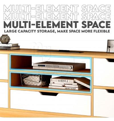 (READY STOCK) 4 Feet TV cabinet Rak Tv console Almari Tv Media Storage Cabinet Bedroom
