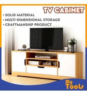(READY STOCK) 4 Feet TV cabinet Rak Tv console Almari Tv Media Storage Cabinet Bedroom