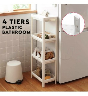 Mytools 4 Tiers Plastic Bathroom Shelf Rack Kitchen Multipurpose Storage Space Saver
